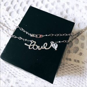 ' Love ' Silver Necklace